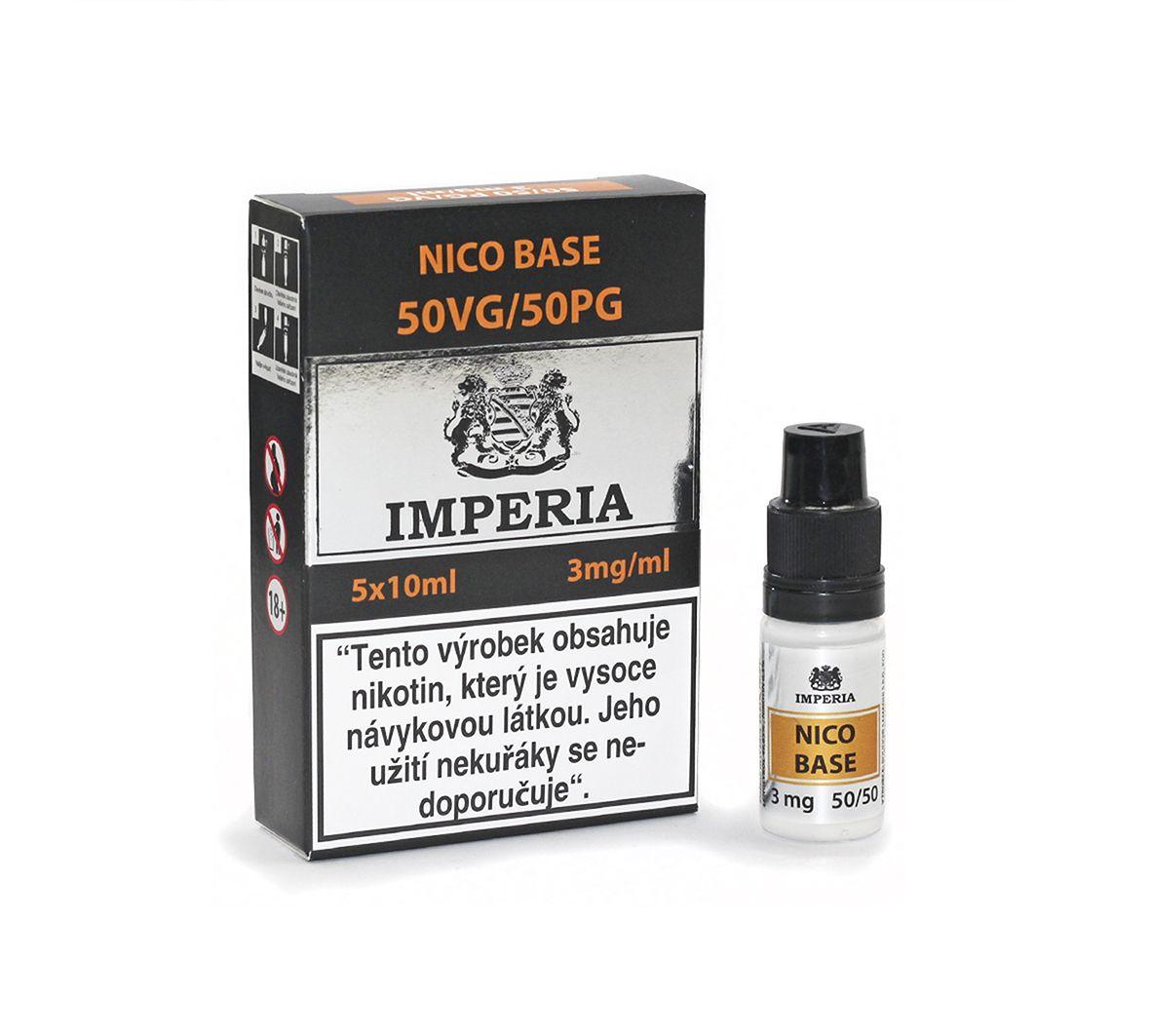 Nico Base Imperia 50/50 - 3mg - 5x10ml (50PG/50VG)