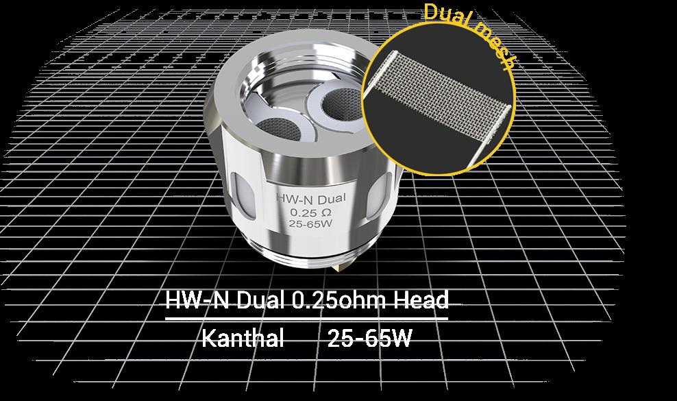 Žhavící hlava Eleaf HW-N dual coil 0,25ohm