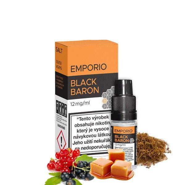 BLACK BARON (Černý rybíz s karamelem a tabákem) - E-liquid Emporio Salt 10ml