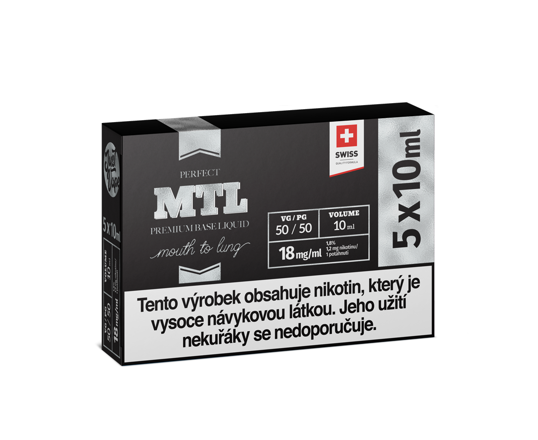 JustVape MTL BOOSTER 18mg - 5x10ml (50PG/50VG)