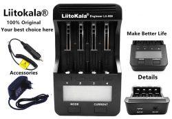LiitoKala Lii-500 inteligentní nabiječka s displejem, 4 sloty