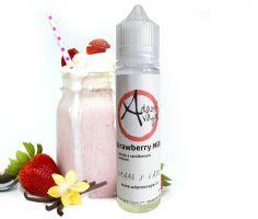 STRAWBERRY MILK / Jahodovo-vanilkové mléko - ADAM´S VAPE shake&vape 12ml