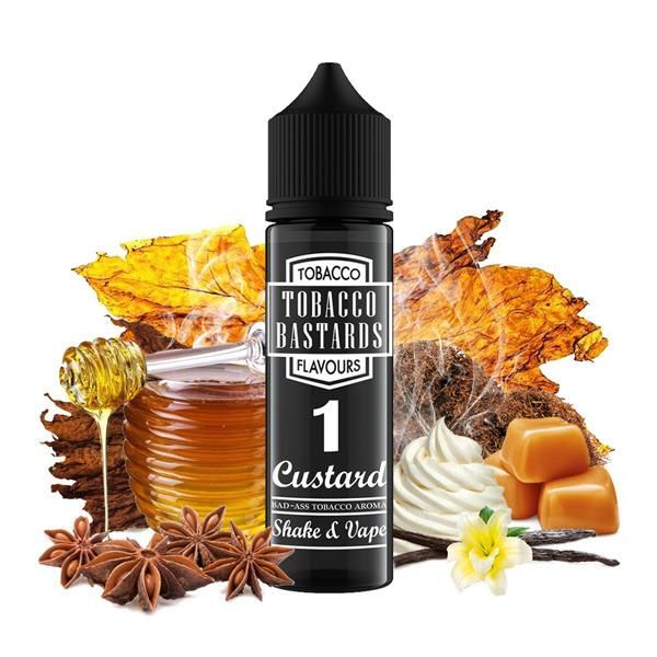 Tobacco Bastards No.01 CUSTARD - shake&vape Flavormonks 12 ml