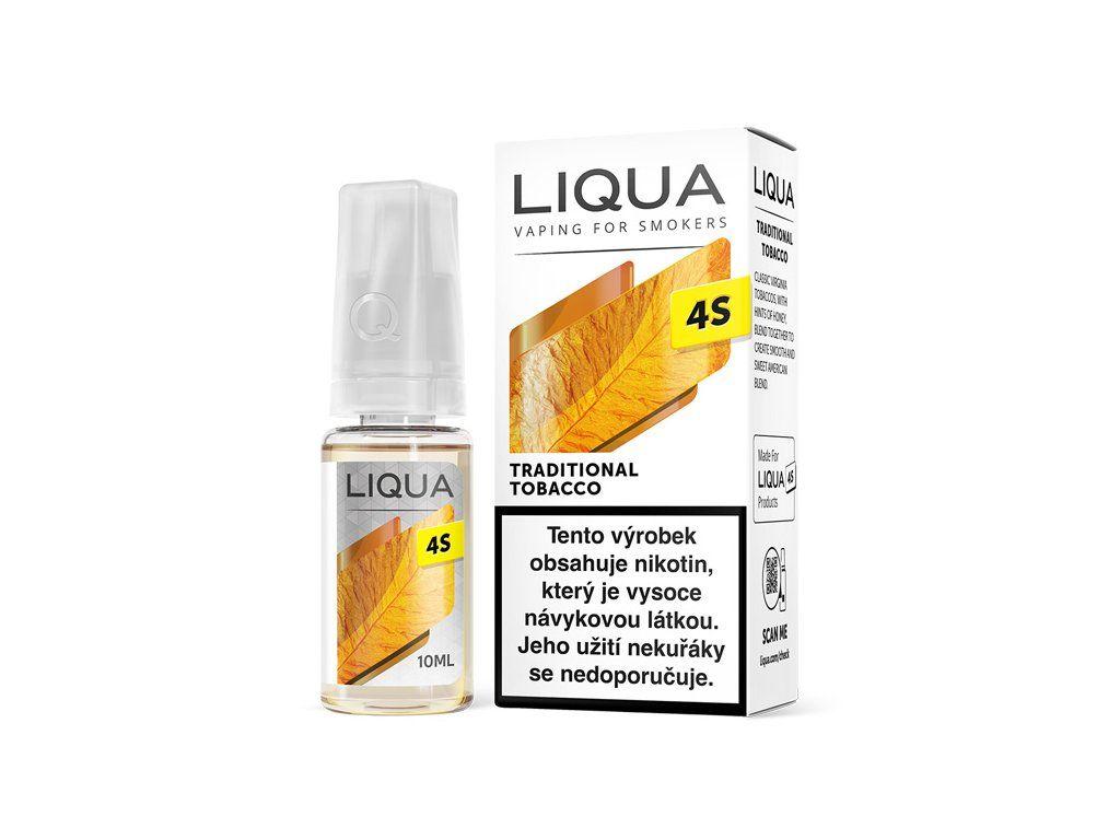 TRADIČNÍ TABÁK / Traditional Tobacco - LIQUA 4S 10ml - 20mg Ritchy Group
