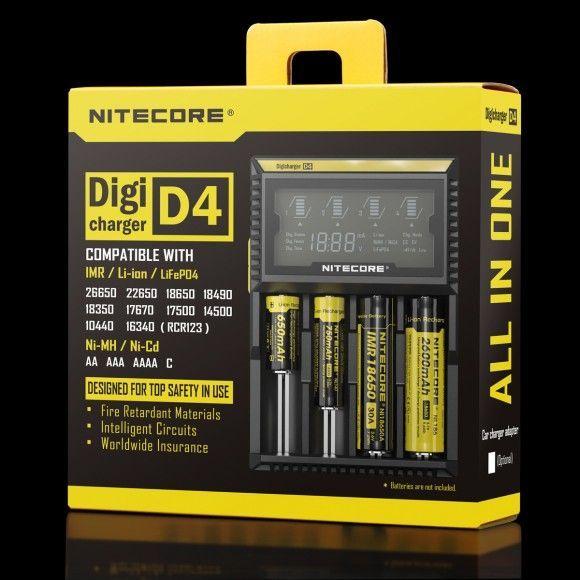 Nitecore D4 nabíječka s displejem 4 sloty SYSMAX Industry Co., Ltd.