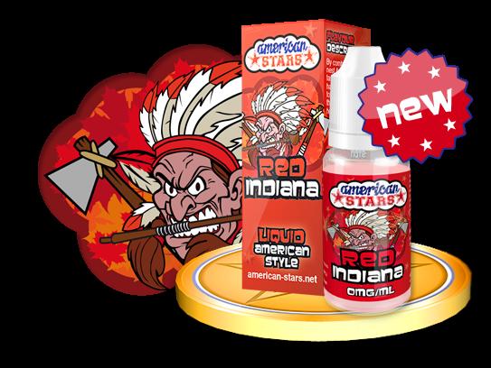 RED INDIANA - e-liquid American Stars 10ml Flavourtec