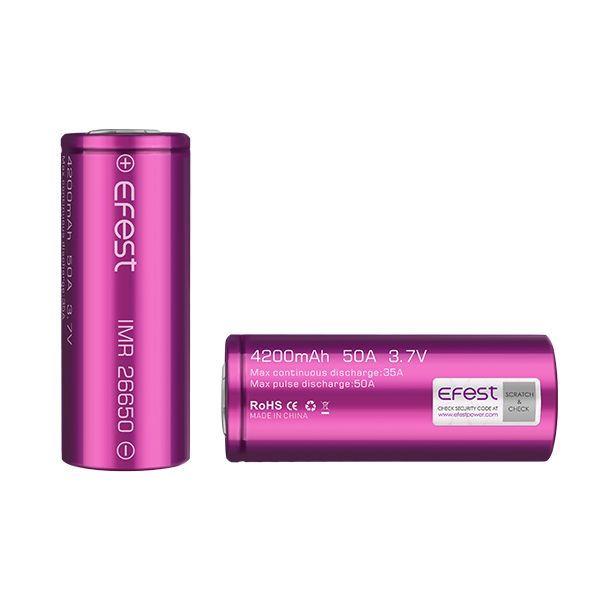 Baterie EFEST IMR 26650 - 4200mAh 50A