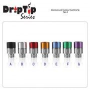 510 Aluminum and Stainless Steel Drip Tip Type B Green Sound