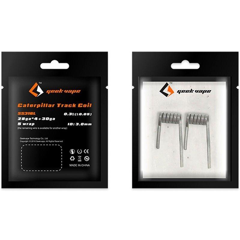 GeekVape CATERPILLAR TRACK spirálky SS316L 28GAx4+30GA, 0,3Ω - 2ks