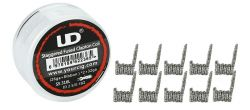 UD Stagerred Fused Clapton - SS316L- spirálky - 10ks