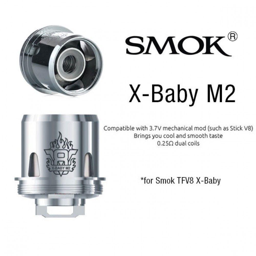 Žhavící hlava X-Baby M2 pro Smok TFV8 X-BABY Tank - 0,25 ohm