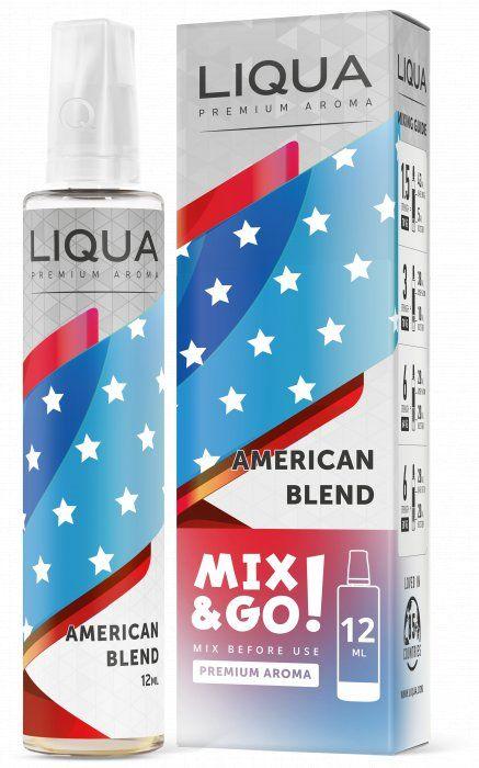 AMERICKÝ TABÁK / American Blend - LIQUA Mix&Go 12ml Ritchy Group