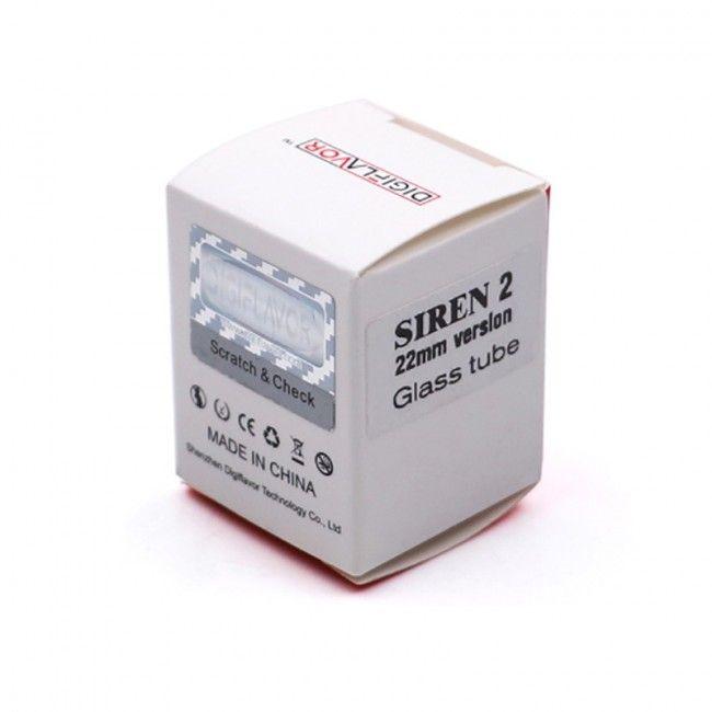 Digiflavor SIREN 2 RTA - náhradní skleněné tělo, 2ml (22mm)